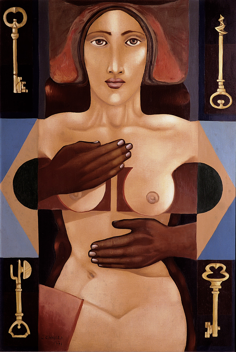 Woman and four keys