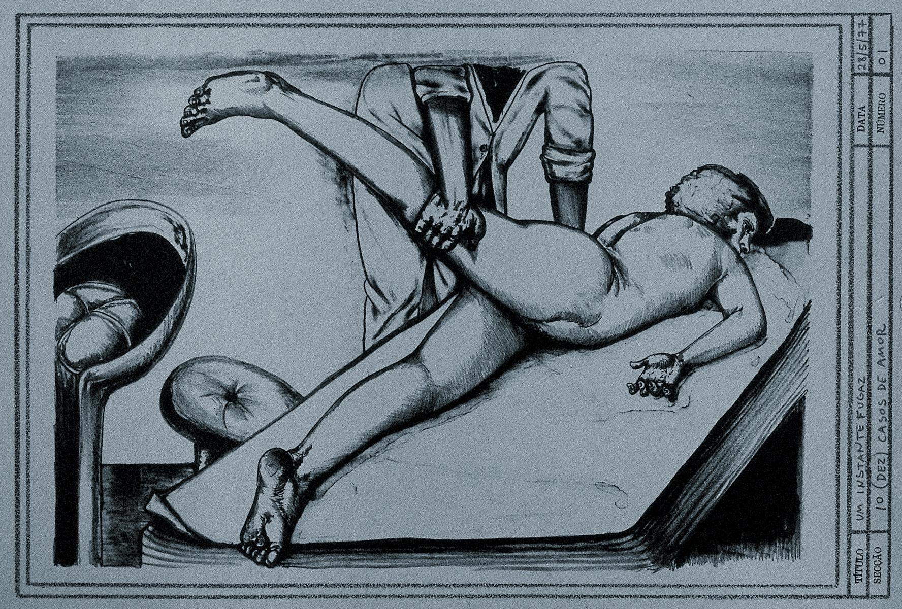 A fugacious moment (lithography)