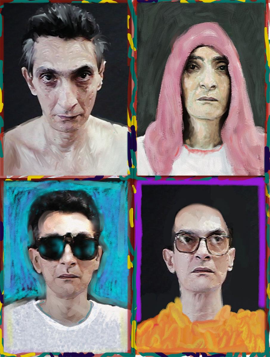 Four perverted self-portraits